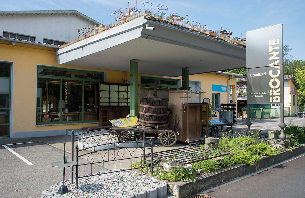 18.08.2016; Coldrerio (CH); Tankstelle an der Via Sant' Apollonia<br /> (Steffen Schmidt)