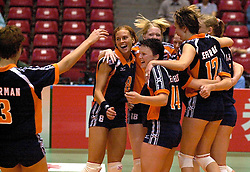 18-06-2000 JAP: OKT Volleybal 2000, Tokyo<br /> Nederland - China 3-0 / Marrit Leenstra, Riette Fledderus