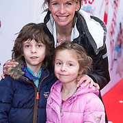 NLD/Amsterdam/20140202 - Premiere K3 Dierenhotel, Anky van Grunsven met kinderen Yannick en Ava