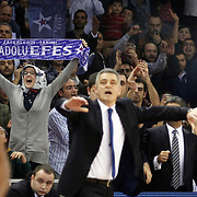 Anadolu Efes's Supporters fans during their Euroleague Top 16 game11 basketball match Anadolu Efes between Brose Baskets at the Abdi Ipekci Arena in Istanbul at Turkey on Thursday, March, 14, 2013. Photo by Aykut AKICI/TURKPIX