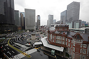 facade view of the renovated Tokyo Station Japan