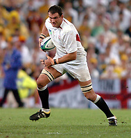 Photo: Richard Lane.<br />Australia v England. Rugby World Cup Final, at the Telstra Stadium, Sydney. RWC 2003. 22/11/2003. <br />England captain, Martin Johnson.