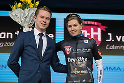 Emma Johansson wins the Vamberg sprint jersey - Drentse 8, a 140km road race starting and finishing in Dwingeloo, on March 13, 2016 in Drenthe, Netherlands.