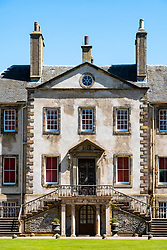 Newhailes House a Palladian style villa in Newhailes Estate. Midlothian, Scotland, UK