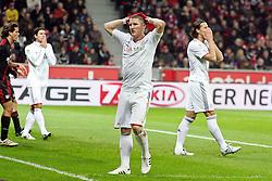20.11.2010,  BayArena, Leverkusen, GER, 1. FBL, Bayer Leverkusen vs FC Bayern Muenchen, 13. Spieltag, im Bild: Mario Gomez (Muenchen #33) (links), Bastian Schweinsteiger (Muenchen #31) und Daniel van Buyten (Muenchen #5) (rechts) sind entaeuscht / entäuscht nach einer vergebenen Chance  EXPA Pictures © 2010, PhotoCredit: EXPA/ nph/  Mueller****** out ouf GER ******
