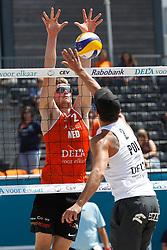 20180717 NED: CEV DELA Beach Volleyball European Championship day 3<br />Jannes van der Ham (2) of The Netherlands <br />©2018-FotoHoogendoorn.nl