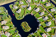 Nederland, Friesland, Gemeente De Friese Meren , 10-10-2014; Sint-Nicolaasga.Camping Blaauw op Landgoed Eysinga-State.<br /> Estate camping.<br /> luchtfoto (toeslag op standard tarieven);<br /> aerial photo (additional fee required);<br /> copyright foto/photo Siebe Swart