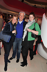 Left to right, KAREN HOWES, LORD KENILWORTH and BETTY BETTINSON at the London Design Week 2013 Party, held at the Design Centre, Chelsea Harbour, London SW10 on 18th March 2013.
