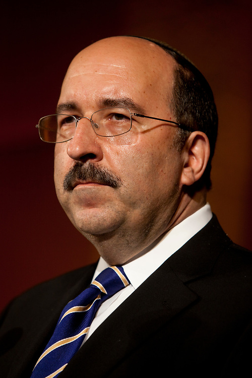 Dore Gold, President of the Jerusalem Center for Public Affairs and former Israeli Ambassador to the United Nations, attends a convention in Jerusalem, Israel, on September 19, 2011.