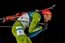 February 18, 2018 - Pyeongchang, Gangwon, South Korea - Jakov Fak of Slovenia competing in  15 km mass start biathlon at Alpensia Biathlon Centre, Pyeongchang,  South Korea on February 18, 2018. (Credit Image: © Ulrik Pedersen/NurPhoto via ZUMA Press)