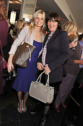 Left to right, the MARCHIONESS OF MILFORD HAVEN and LULU HUTLEY at a ladies lunch in support of Maggie's Barts hosted by Judy Naake, Clara Weatherall and Caroline Collins at Le Cafe Anglais, 8 Porchester Gardens, London W2 on 19th March 2013.