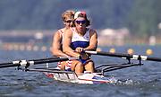 Atlanta, USA., GBR M2X,  Bow, Bobby THATCHER, James CRACKNELL, 1996 Olympic Rowing Regatta Lake Lanier, Georgia [Mandatory Credit Peter Spurrier/ Intersport Images]