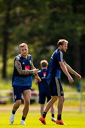 May 29, 2018 - BÃ¥Stad, Sverige - 180529 John Guidetti och Ola Toivonen under Sveriges fotbollslandslags träning den 29 maj 2018 i BÃ¥stad  (Credit Image: © Petter Arvidson/Bildbyran via ZUMA Press)