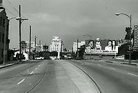 1973 Looking west on Sunset Blvd. towards Harper St.