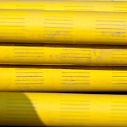 stack of telecom cable piping