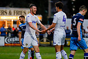 Leeds United Ryan Edmondson (14) scores a goal and his hat trick and celebrates to make the score 1-5 during the Pre-Season Friendly match between Tadcaster Albion and Leeds United at i2i Stadium, Tadcaster, United Kingdom on 17 July 2019.