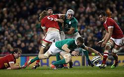 Ireland's Jack OÂ'Donoghue knocks the ball on during the Autumn International match at the Aviva Stadium, Dublin.