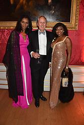Zeinab Badawi, Charlie Mayhew and Patti Boulaye at the Tusk Ball at Kensington Palace, London, England. 09 May 2019.