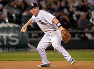 CHICAGO - APRIL 18:  Todd Frazier #21 of the Chicago White Sox fields  against the Los Angeles Angels on April 18, 2016 at U.S. Cellular Field in Chicago, Illinois.  .  (Photo by Ron Vesely)