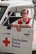 Paediatric nurse and aid worker Christian Schuh, of the Deutsches Rotes Kreuz (DRK - German Red Cross), Berlin, Germany.