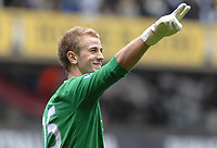 Football - Joe Hart (City) salutes he fans. Tottenham Hotspur v Manchester City 14/08/2010 Credit : Colorsport / Andrew Cowie