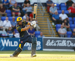 Glamorgan's Craig Meschede in action today <br /> <br /> Photographer Simon King/Replay Images<br /> <br /> Vitality Blast T20 - Round 8 - Glamorgan v Gloucestershire - Friday 3rd August 2018 - Sophia Gardens - Cardiff<br /> <br /> World Copyright © Replay Images . All rights reserved. info@replayimages.co.uk - http://replayimages.co.uk