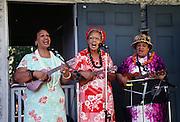 Women playing Ukulele, Hawaii