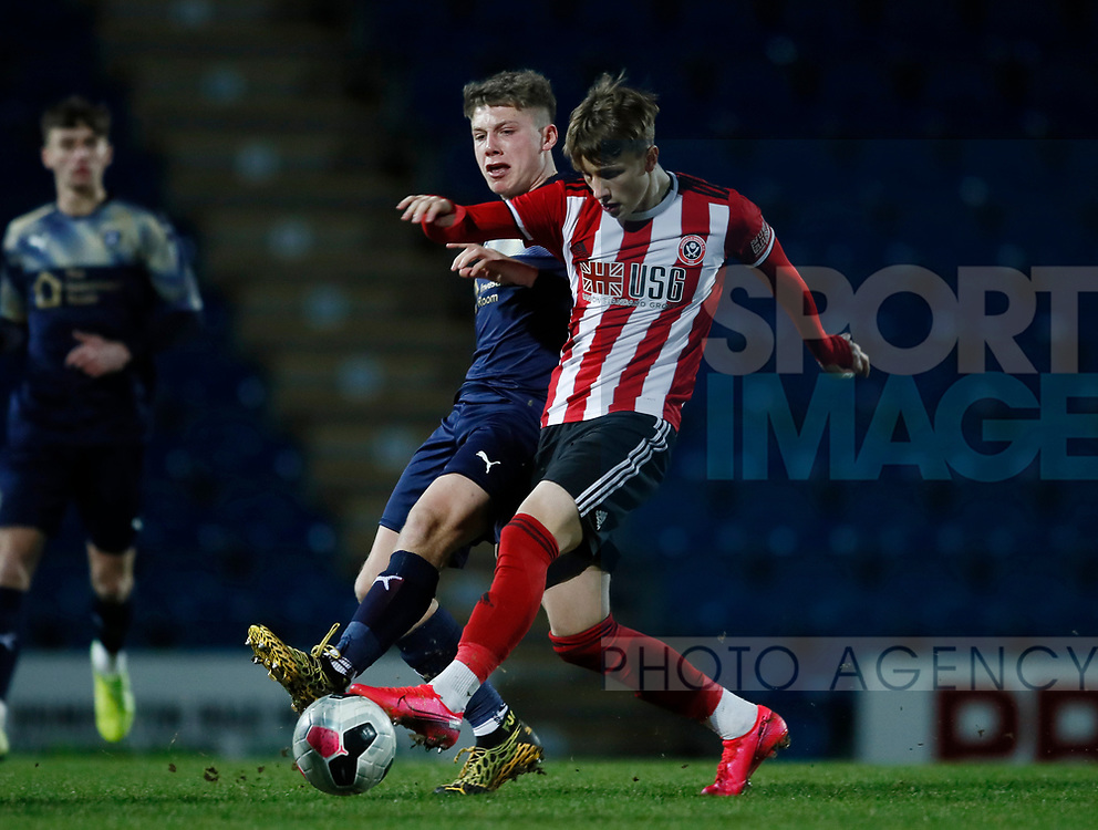 Harry Boyes of Sheffield Utd during the Professional Development League  match at the Proact Stadium, Chesterfield. Picture date: 3rd February 2020. Picture credit should read: Simon Bellis/Sportimage