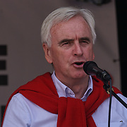 BBC Broadcasting House, London, UK, 1st July 2017. John McDonnell addresses the crowd Not one day more #ToriesOut a National Demonstration demand unconfident Tories out attack disable, Austerity, NHS School and demand Justice for Grenfell.