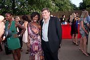 BEVERLEY KNIGHT; GEOFF COUSINS; MD JAGUAR;, The Summer Party. Serpentine Gallery. 8 July 2010. -DO NOT ARCHIVE-© Copyright Photograph by Dafydd Jones. 248 Clapham Rd. London SW9 0PZ. Tel 0207 820 0771. www.dafjones.com.