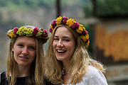 Young Armenian women with a flower's wreath