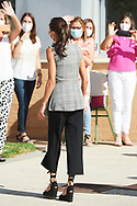 Queen Letizia of Spain attends the Opening of the School Year 2020/2021 at CPEIP Nuestra Senora del Patronicio on September 14, 2020 in Milagro, Spain