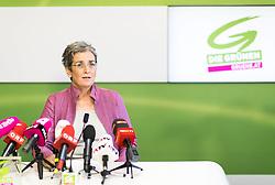 26.06.2017, Grüner Parlamentsklub, Wien, AUT, Grüne, Pressekonferenz anlässlich des Bundeskongresses mit neu gewählten Nationalratsliste. im Bild Spitzenkandidatin zur Nationalratswahl Ulrike Lunacek // MEP and Vice-President of the European Parliament Ulrice Lunacek (Group of the Greens/ European Free Alliance) during media conference of the parliamentary group the greens in Vienna, Austria on 2017/06/26. EXPA Pictures © 2017, PhotoCredit: EXPA/ Michael Gruber