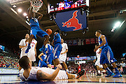 DALLAS, TX - FEBRUARY 01: Kuran Iverson #23 of the Memphis Tigers dunks the ball against the SMU Mustangs on February 1, 2014 at Moody Coliseum in Dallas, Texas.  (Photo by Cooper Neill/Getty Images) *** Local Caption *** Kuran Iverson