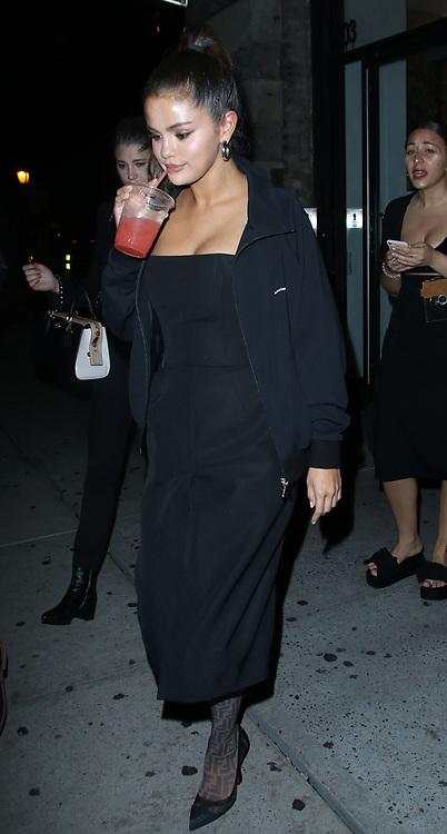 Selena Gomez is seen outside La Esquina Restaurant in New York City.