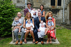 Tracey Britten and husband Stephen get their quads christened - 27 May 2019