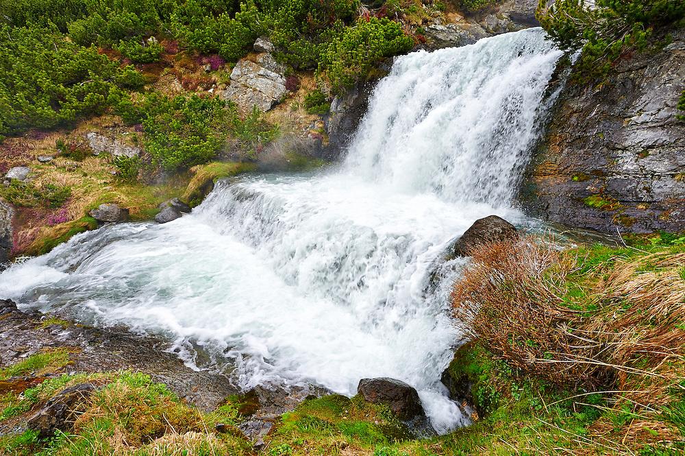 Italy - Waterfall in Stelvio Pass