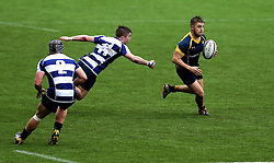 Alex Forrester (Hartpury College) of Worcester Warriors U18 runs with the ball - Mandatory by-line: Robbie Stephenson/JMP - 29/01/2017 - RUGBY - Sixways Stadium - Worcester, England - Worcester Warriors U18 v Sale Sharks U18 - Premiership Rugby U18 Academy League