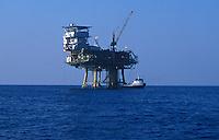 Oil Rig off the coast of Santa Barbara, California.
