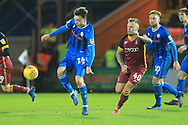Ollie Rathbone brings the ball forward during the EFL Sky Bet League 1 match between Rochdale and Bradford City at Spotland, Rochdale, England on 29 December 2018.