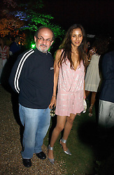 SALMAN RUSHDIE and PADMA LAKSHMI  at the Quintessentially Summer Party held at Debenham House, 8 Addison Road, London W14 on 15th June 2006.<br />