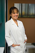 Dr. Nancy Ocampo Watanabe of Capitol Square Dental Care poses for a portrait at Capitol Square Dental Care in San Jose, California, on April 4, 2013. (Stan Olszewski/SOSKIphoto)