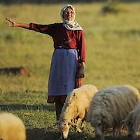 Farmer woman. Lake Prespa National Park, Albania June 2009