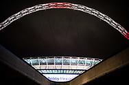 general shot outside the stadium at  the International Friendly match between England and Brazil at Wembley Stadium, London, England on 14 November 2017. Photo by Sebastian Frej.