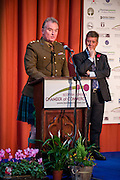 Announcing the winners of the 2015 Scottish Border Business Award for Micro Business of the Year for Environmental Innovation: JG Shanks & Son, Standhill Farm, Hawick.<br /> Sponsored by Federation of Small Businesses.<br /> <br /> The 2015 Scottish Border Business Awards, held at Springwood Hall, Kelso. The awards were run by the Scottish Borders Chambers of Commerce, with guest speaker Keith Brown, MSP. The SBCC chairman Jack Clark and the presenter Fiona Armstrong co hosted the event.
