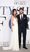 Feb 12, 2015 - 'Fifty Shades of Grey' UK Premiere - Red Carpet Arrivals at Odeon, Leicester Square<br /> <br /> Pictured: Jamie Dornan and Dakota Johnson<br /> ©Exclusivepix Media