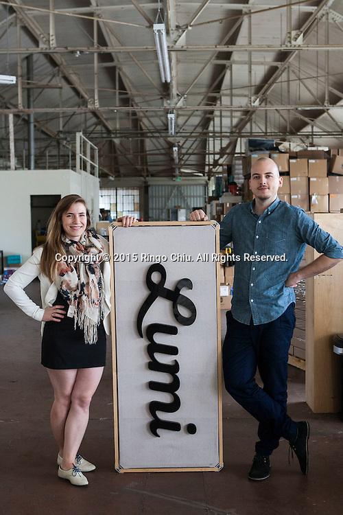 Jesse Genet and Stephan Ango, co-founders of custom print tools supplier Lumi.<br /> (Photo by Ringo Chiu/PHOTOFORMULA.com)
