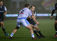 Rugby Union - 2020 / 2021 ERRC Challenge Cup - Newcastle Falcons vs Cardiff Blues - Kingston Park<br /> <br /> Joel Hodgson of Newcastle Falcons is tackled by Kristian Dacey of Cardiff Blues<br /> <br /> COLORSPORT/BRUCE WHITE