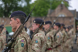 Pictured: Participants in the 2019 Edinburgh Military Tattoo carried out a dress rehearsal at Redford Barracks in Edinburgh today.<br /> <br /> Dave Cullen | EEm 31 July 2019