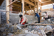 House being built in conservation area, Hutongs Area, Beijing, China
